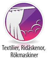 Textilier, Ridåskenor, Rökmaskiner